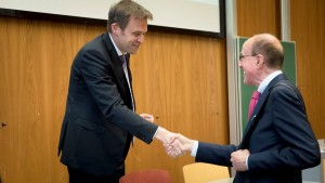 Dr. Jens Bormann Präsident des Bundesnotarkammer und Prof. Dr. Claude Witz, Co-Direktor des CJFA