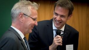Prof. Dr. Uwe Hartmann, Vize-Präsident der Universität des Saarlandes und Dr. Jens Bormann, Präsident der Bundesnotarkammer